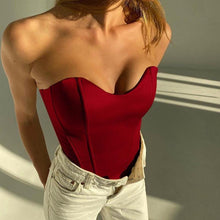 Load image into Gallery viewer, Strapless Corset Tops - Fashionsarah.com