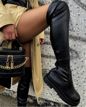 Load image into Gallery viewer, Black Biker Boots - Fashionsarah.com
