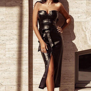 Strapless leather dress! Plus Sizes - Fashionsarah.com