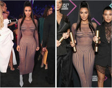 Load image into Gallery viewer, Nude Kim's Illusion Dress