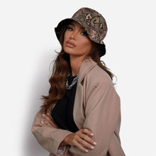 Load image into Gallery viewer, Bucket Hat In Nude Snake - Fashionsarah.com