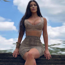 Load image into Gallery viewer, Sexy Bodycon Set.Kim Rules! - Fashionsarah