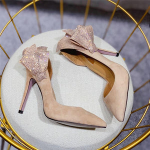 Luxury Crystal Butterfly Heels! - Fashionsarah