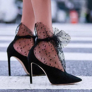 Wrapped Lace Heels