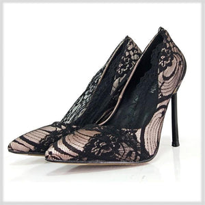 Hot Lace High Heels