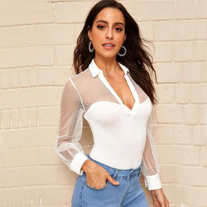 Elegant Office Ladies Bodysuit! - Fashionsarah