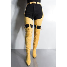 Load image into Gallery viewer, Suede Waist Thigh Belted Boots - Fashionsarah