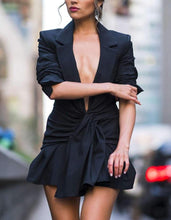 Load image into Gallery viewer, Blazer Deep V Neck Suit Dress.Just in! - Fashionsarah