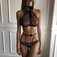 Load image into Gallery viewer, Open Bra Lingerie Set - Fashionsarah