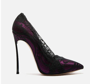 Hot Lace High Heels - Fashionsarah.com