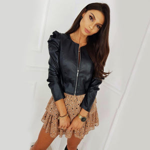 Leather Slim Jacket