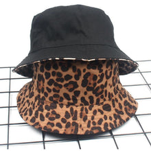 Load image into Gallery viewer, Leopard Reversible Bucket Hat