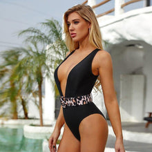 Load image into Gallery viewer, Deep V Belted Monokini