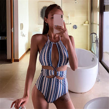 Load image into Gallery viewer, Sexy Boho Striped Monokini