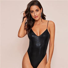 Load image into Gallery viewer, Croco Glamorous Bodysuit - Fashionsarah.com