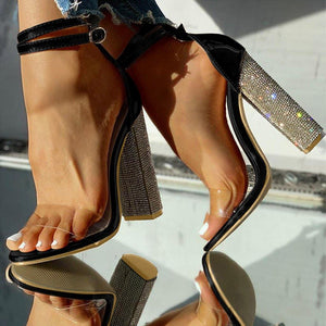 Transparent Diamond Heels