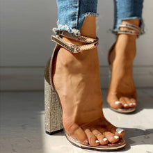 Load image into Gallery viewer, Transparent Diamond Heels - Fashionsarah.com