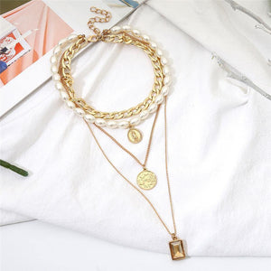 Multi Layered Pearl Choker