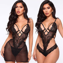 Load image into Gallery viewer, Black Lace Baby Doll