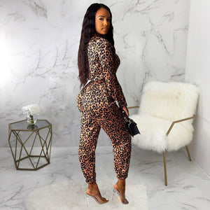 Loose Leopard Jumpsuit