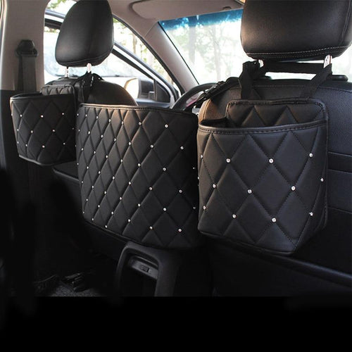 Leather Storage Organizer, Barrier of Backseat