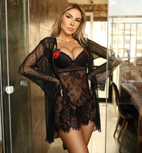 Load image into Gallery viewer, Lace Nightdress Set - Fashionsarah.com
