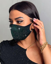 Load image into Gallery viewer, Elastic Rhinestone Face Mask - Fashionsarah.com