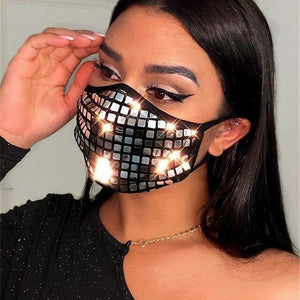 Sequin Decoration Face Mask - Fashionsarah.com