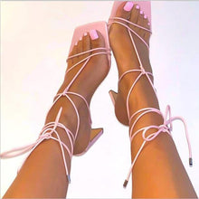 Load image into Gallery viewer, Gladiator Lace Up Pumps - Fashionsarah.com