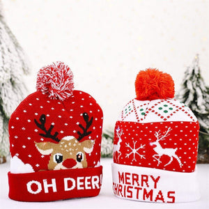 Xmas Hats With LED Flash