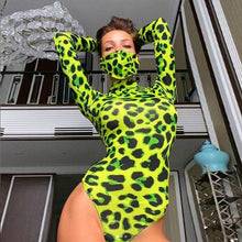 Load image into Gallery viewer, Green Leopard Bodysuit