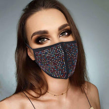 Load image into Gallery viewer, Rhinestone Jewelry Face Masks - Fashionsarah.com