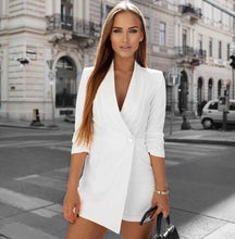 Load image into Gallery viewer, Fashion Playsuit Blazer 3/4 Sleeve - Fashionsarah.com