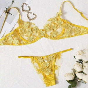 New Lace Bustier Lingerie Set - Fashionsarah.com