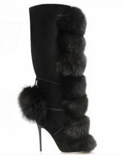 Fur Ball Women Boots - Fashionsarah.com