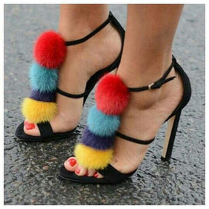 Hot Sale!Sexy Fur Ball Stiletto. - Fashionsarah