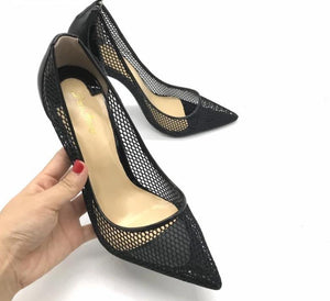 NEW Black Leather Heels! - Fashionsarah