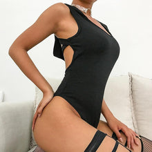 Load image into Gallery viewer, Sexy Black Hooded Bodysuit! - Fashionsarah