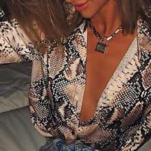 Load image into Gallery viewer, Elegant Eye-catching Deep V Shirt - Fashionsarah