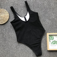 Load image into Gallery viewer, knitted Bottoned Monokini
