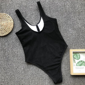 knitted Bottoned Monokini - Fashionsarah.com