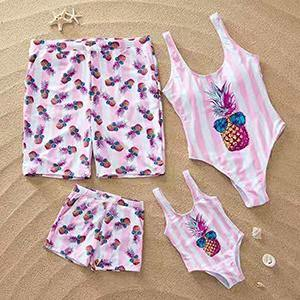We love the new Family Beachwear Matching. - Fashionsarah