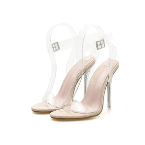 Summer Crystal Clear Heels. What's not to love? - Fashionsarah