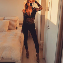 Load image into Gallery viewer, Lace Up Bodysuit! - Fashionsarah
