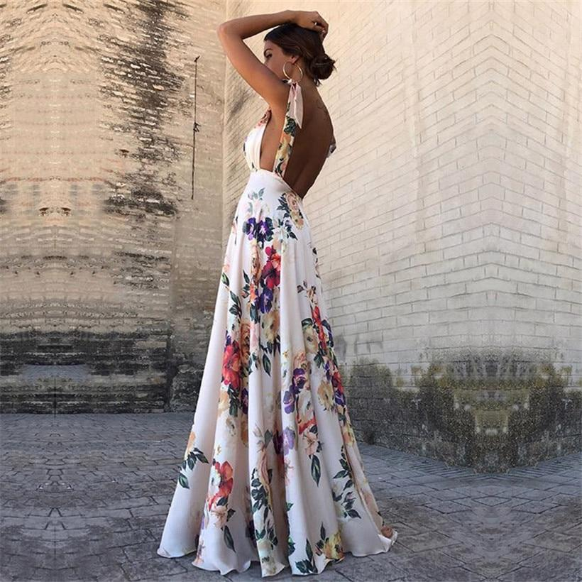 Sexy Floral Boho Dress. - Fashionsarah