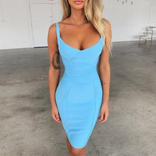 Load image into Gallery viewer, Aqua bodycon Dress! - Fashionsarah