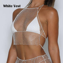 Load image into Gallery viewer, Diamond Bikini Cover Up & Skirt. - Fashionsarah