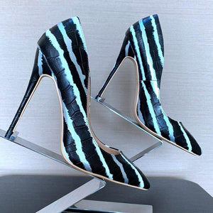 Summer Stripe Heels