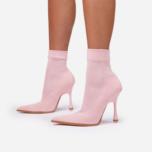 Pink Pointed Toe Boot - Fashionsarah.com