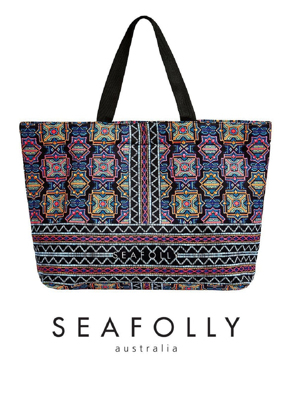 CARRIED AWAY SUN TEMPLE NEOPRENE TOTE